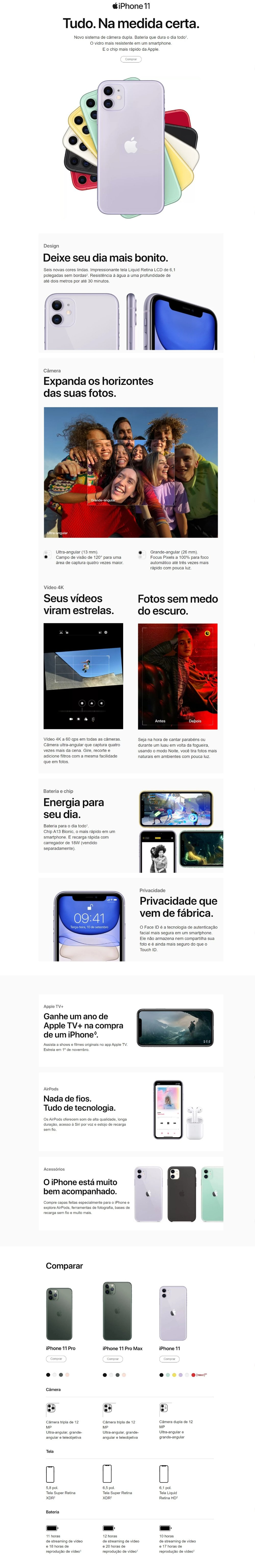 Iphone 11 Branco 256gb novo