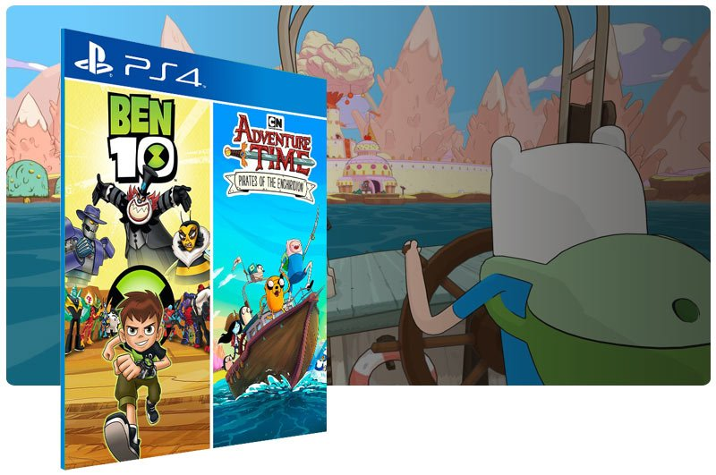 Banner do game Ben 10 and Adventure Time: Pirates of The Enchiridion para PS4
