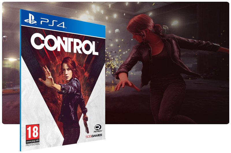 Banner do game Control Pre-Order Edition em mídia digital para PS4