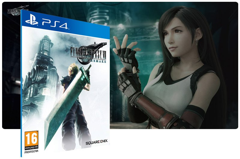 Banner do game Final Fantasy 7 Remake para PS4