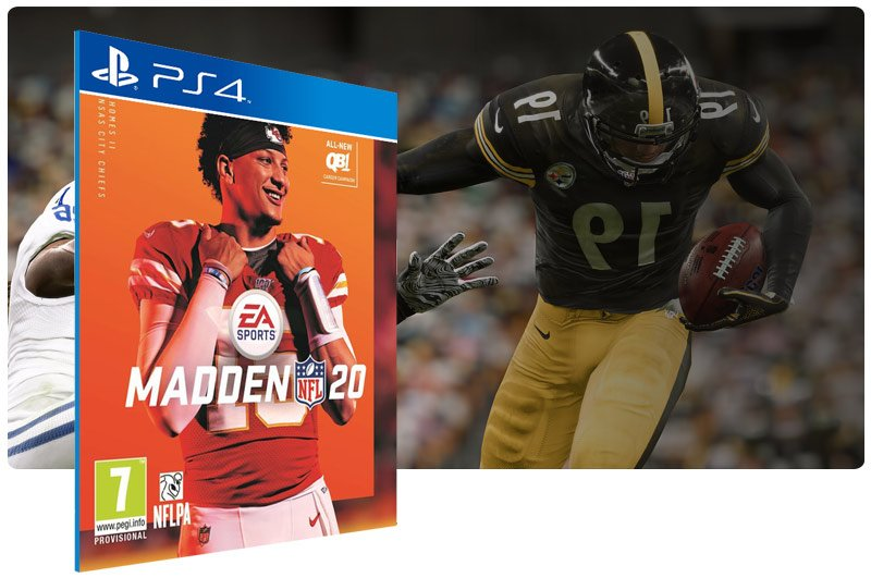 Banner do game Madden NFL 20: Standard Edition em mídia digital para PS4