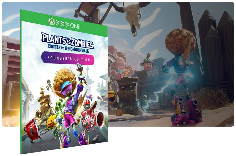 Banner do game Plants vs. Zombies Battle for Neighborville™ Founder's Edition em mídia digital para Xbox One