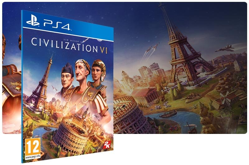 Banner do game Sid Meier's Civilization VI para PS4