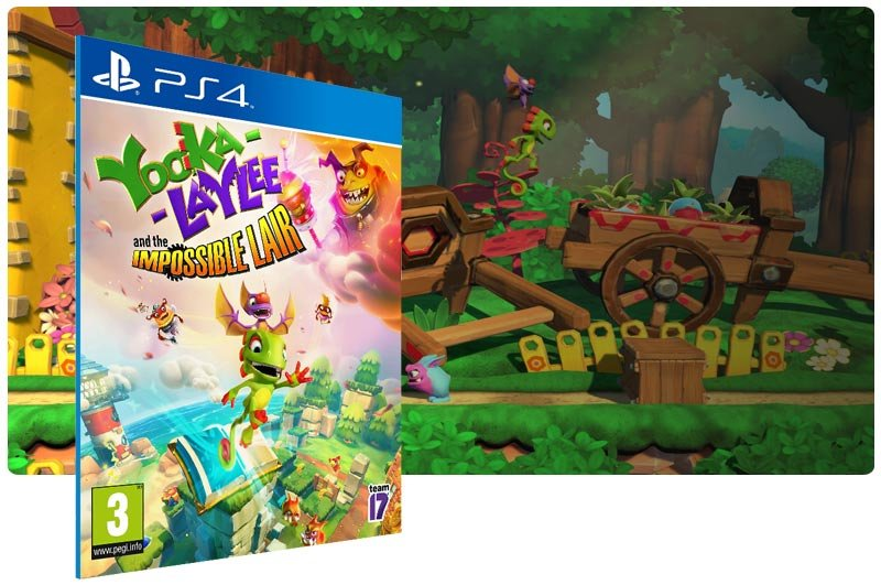 Banner do game Yooka-Laylee and the Impossible Lair para PS4