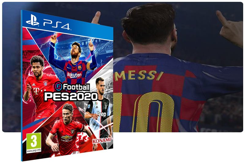 Banner do game eFootball PES 2020 para PS4