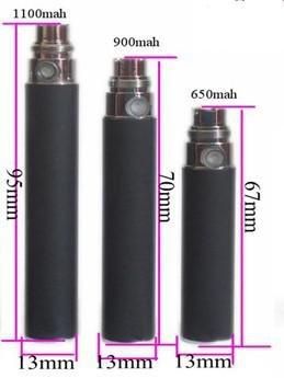 tamanhos bateria eGo 650/900 e 1100 mAh