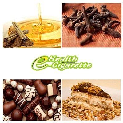 liquido e-health canela, mel, chocolate, baunilha e nozes recargas 20, 30 e 70ml em teores 00mg a 18mg.
