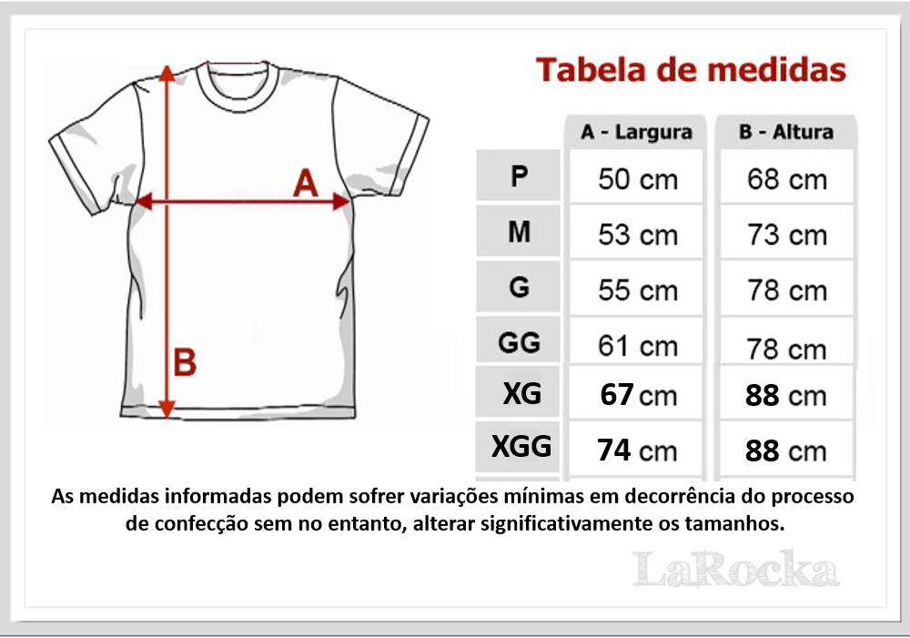 Tamanho Camisetas LaRocka