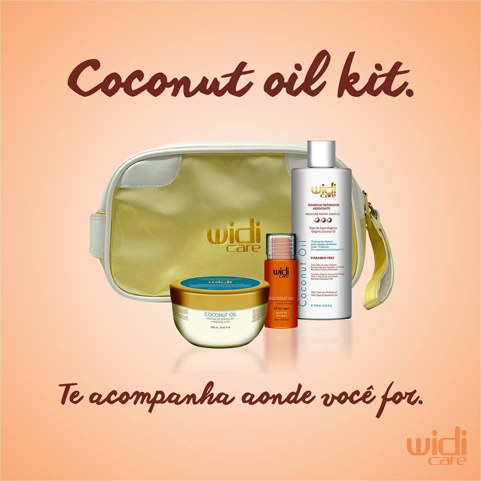 Widi Care Coconut Oil Kit com Necessaire