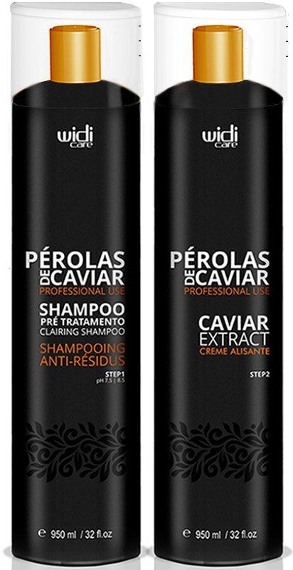 Sistema de Alisamento Capilar de Altíssima Performance Pérolas de Caviar Widi Care