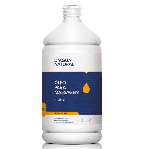 Óleo Para Massagem D'água Natural Neutro Sem Perfume - 1L
