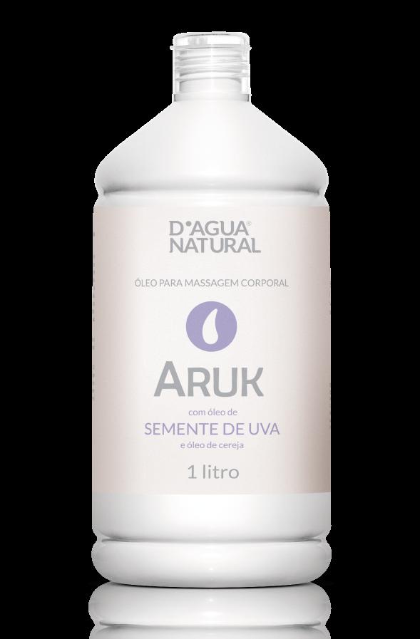 Óleo Para Massagem Aruk D'Água Natural Semente de Uva e Cereja - 1L