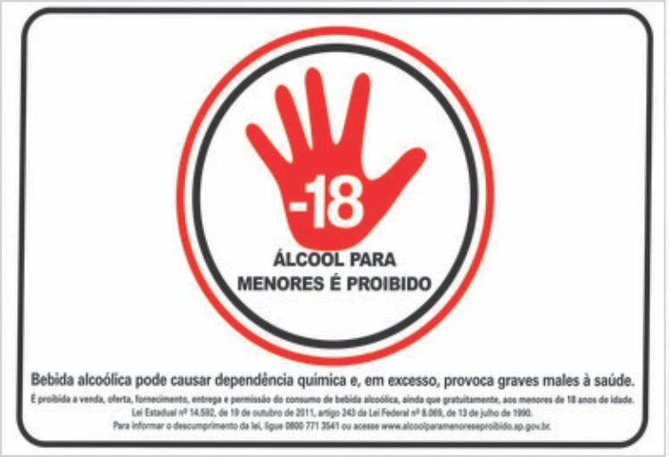 Proibido a Venda de Bebidas Alcóolicas para Menores de 18 Anos