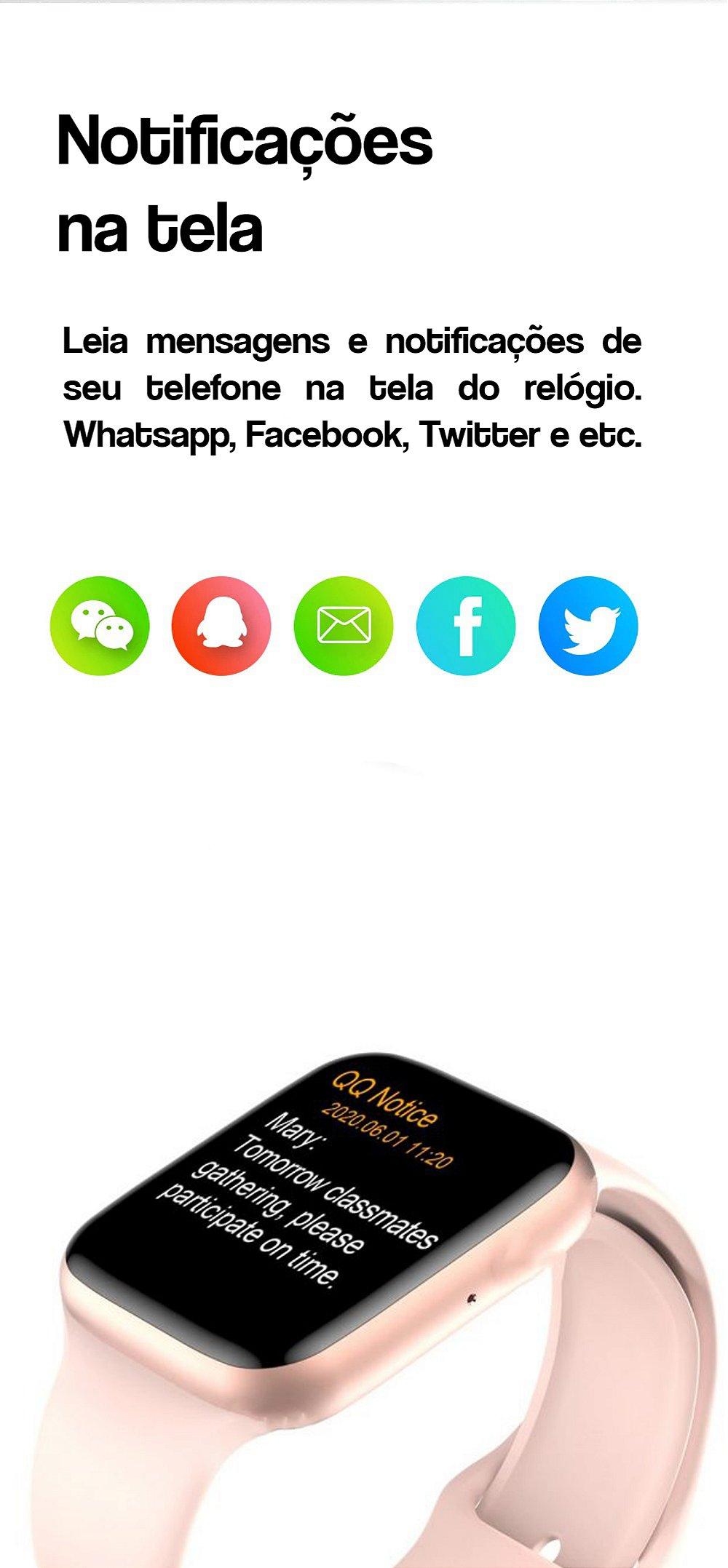 Smartwatch Iwo 12 Pro W26 Prata com Branco + brinde - Aproveitta.com -  Feita para aproveitadores
