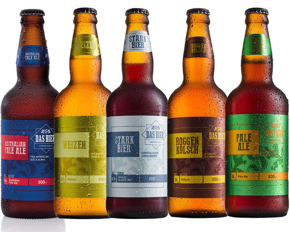 Kit Cerveja Artesanal Das Bier 5 Cervejas