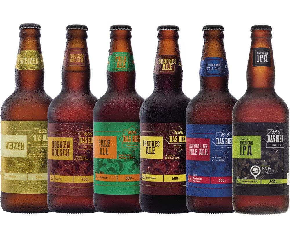 Kit Cerveja Artesanal Das Bier 6 Cervejas