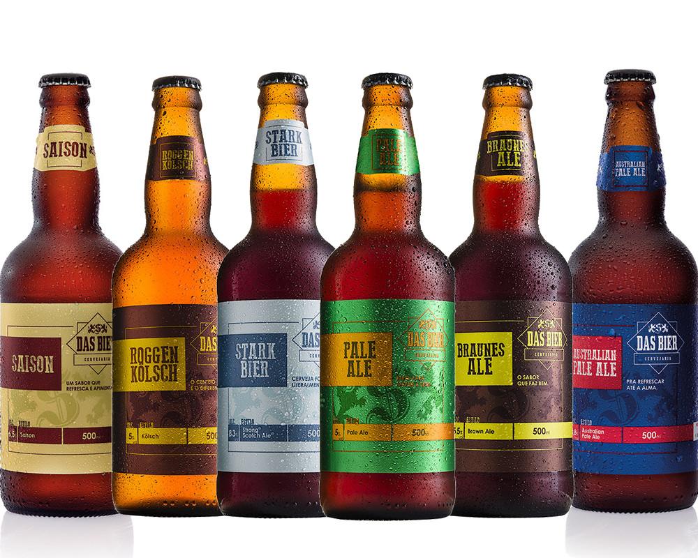 kit combo cerveja artesanal das bier 6 cervejas