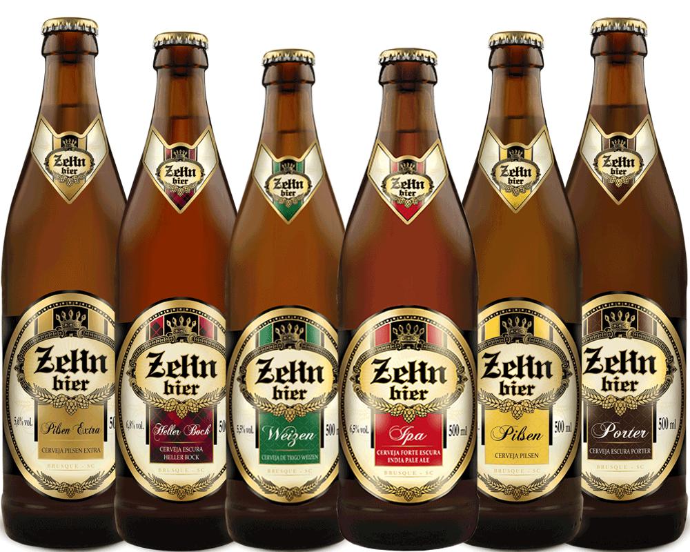 Kit Combo Cerveja Artesanal Zehn Bier 6 Cervejas