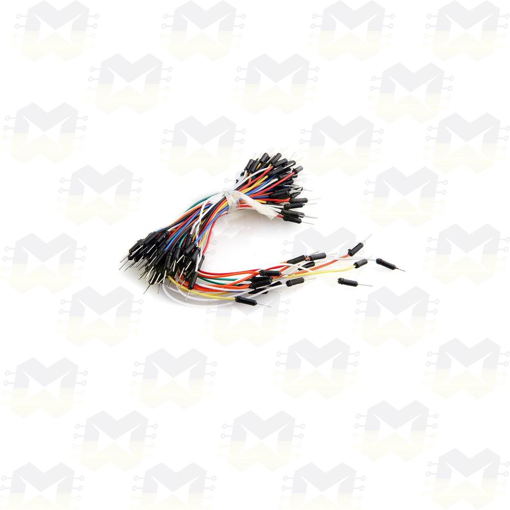 Cabo Jumper Macho-Macho - KIT com 65pcs para Protoboard Arduino NodeMCU ESP8266 Raspberry PIC