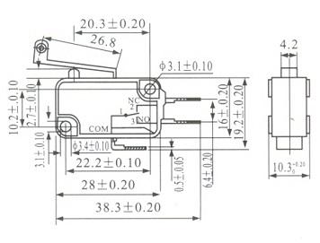 Chave Fim de curso (Micro Switch) com Haste 29MM