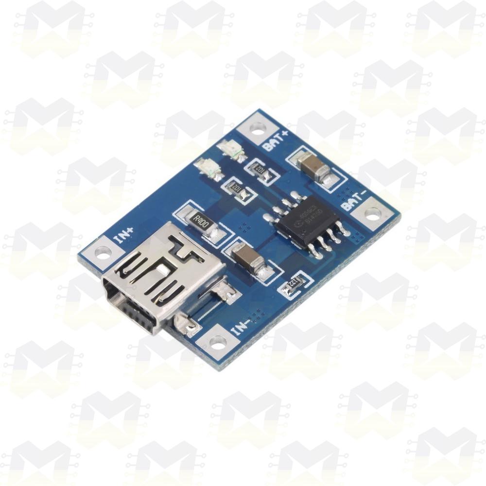 Módulo TP4056 Carregador De Baterias Lítio USB Arduino ESP8266 NodeMCU
