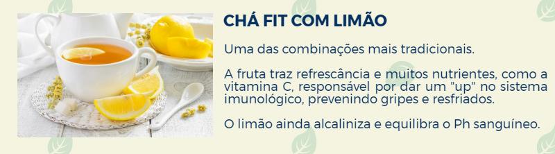 Chá Fit Emagrecedor Detox Com Limão, Aumenta a Resistência Imunológica