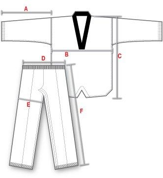 Dimensões Dobok Sung-Ja Gola Branca Infantil