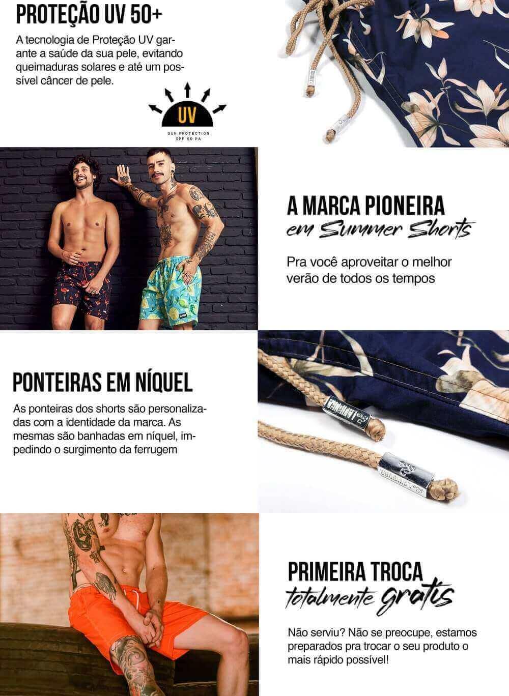 Shorts Praia Masculino