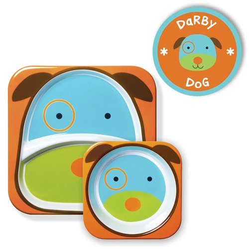 kit-de-pratos-skip-hop-zoo-cachorro