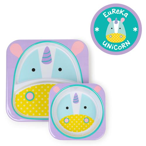 kit-de-pratos-skip-hop-zoo-unicornio