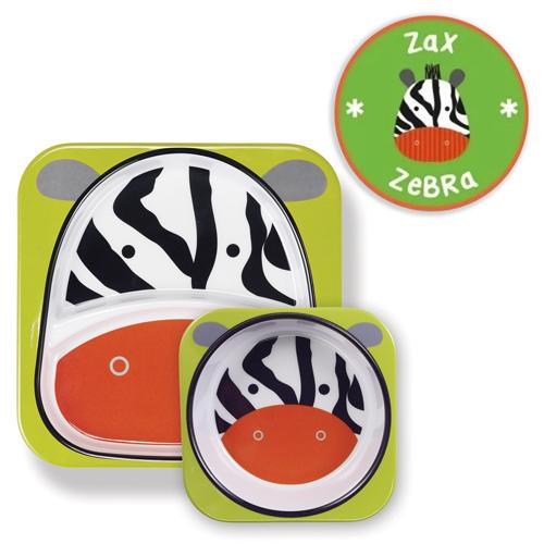 kit-de-pratos-skip-hop-zoo-zebra