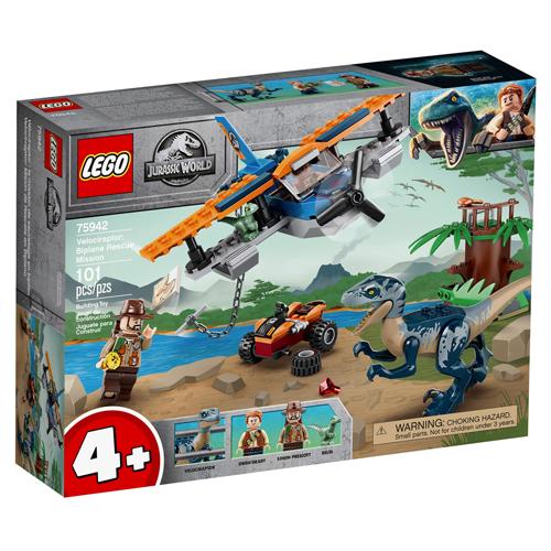 lego-jurassic-world-75942-velociraptor-missao-de-resgate-com-biplano