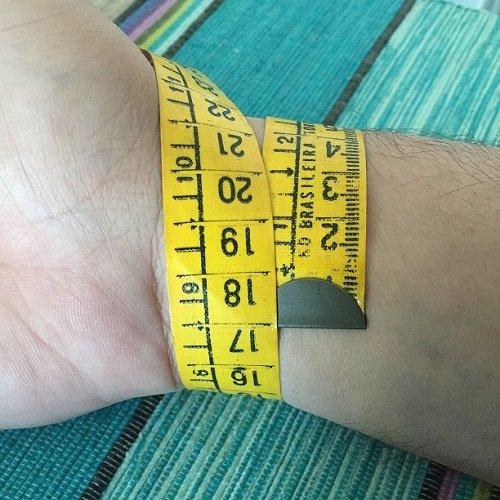 Bracelete masculino de aco inoxidavel com fecho de encaixe - tamanho do pulso