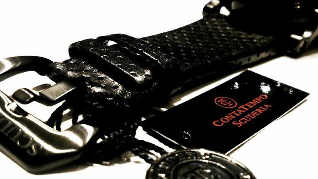 Relogio-masculino-preto-CT-Scuderia-Satuno-Touring-e-pulseira-de-couro-perfurado-preto-fivela
