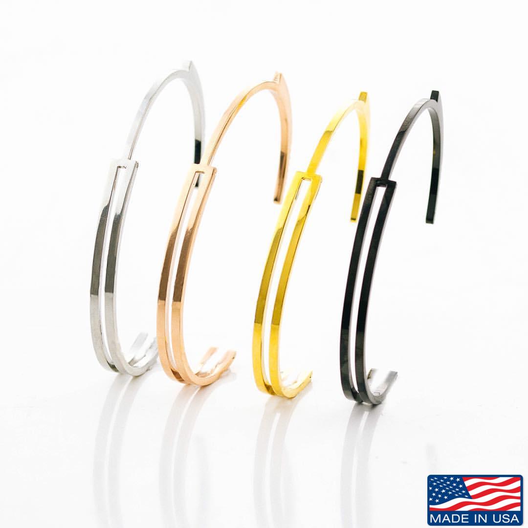 Bracelete Masculino de Aço Inoxidável modelo Algema