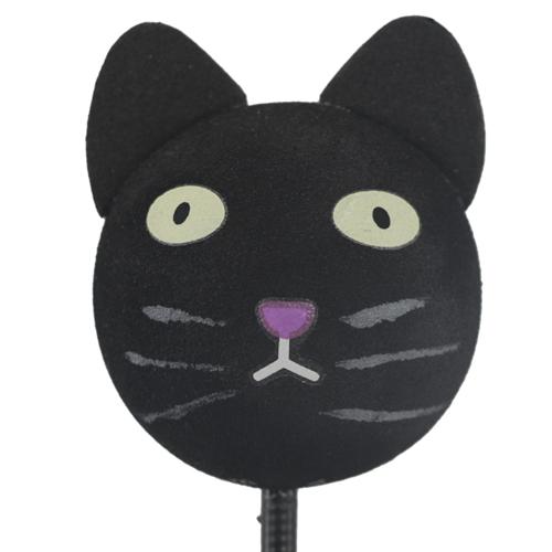 enfeite para antena de carros gato preto