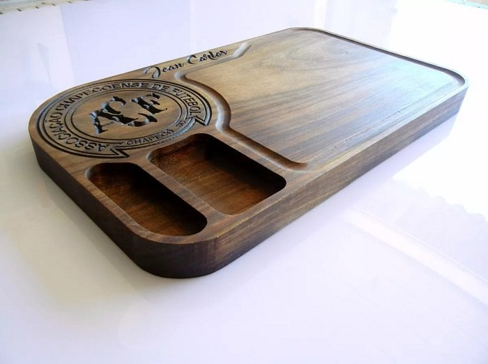 Tabua de carne de madeira do Chapecó madeira maciça