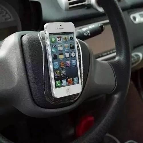 suporte celular tapete mágico aderente para carro