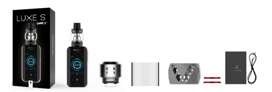 kit vaporizador vaporesso luxe s