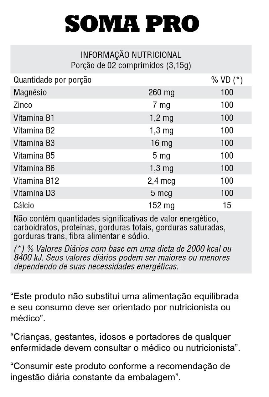 Soma pro Iridium ( novo somatrodrol ) - Informações Nutricionais