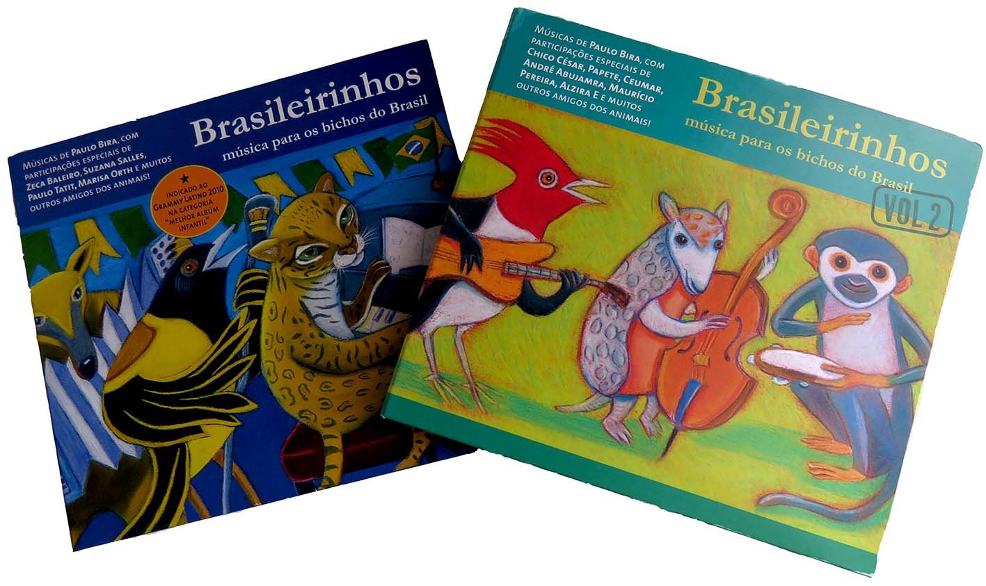 O CD Brasileirinhos apresenta deliciosas músicas inspiradas em animais brasileiros, presente ideal para crianças e adultos, excelente para atividades teatrais e de educação ambiental. Disponível na Maritaca Store.