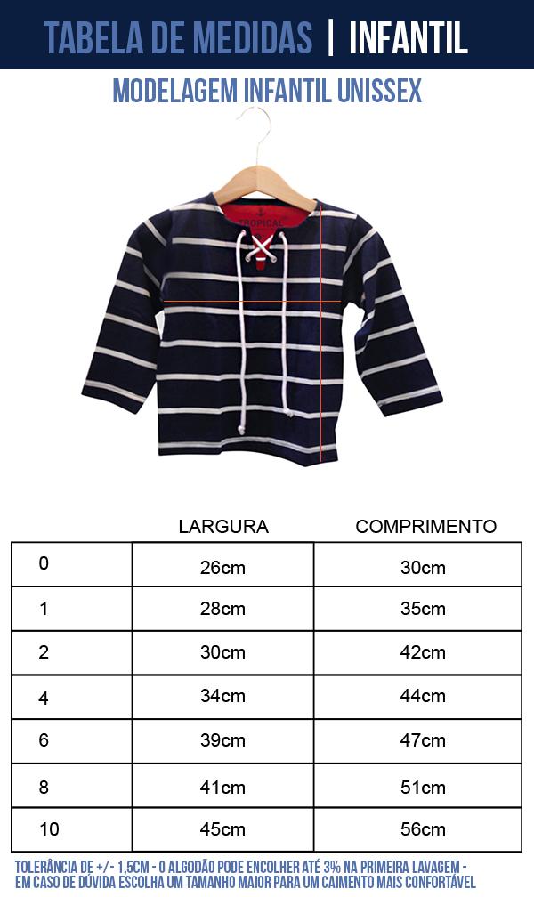 camisa listrada pirata infantil