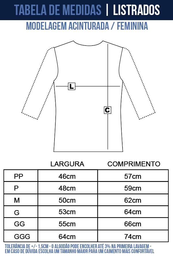 camisa listrada feminina