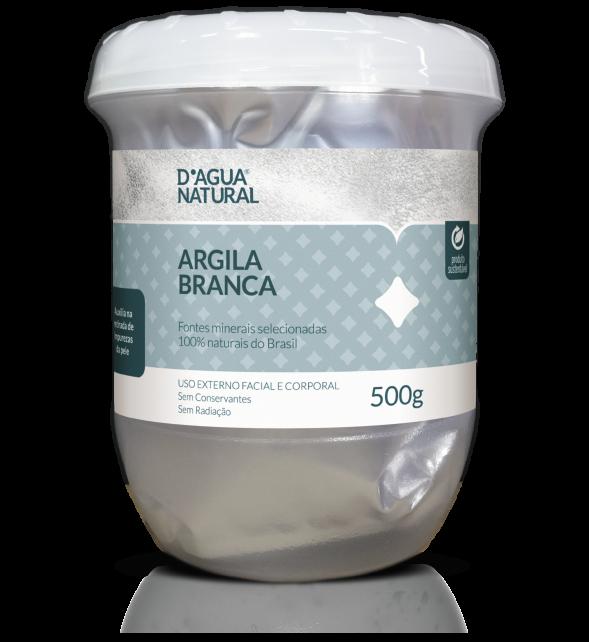 Argila Facial Branca D'Água Natural - 500g