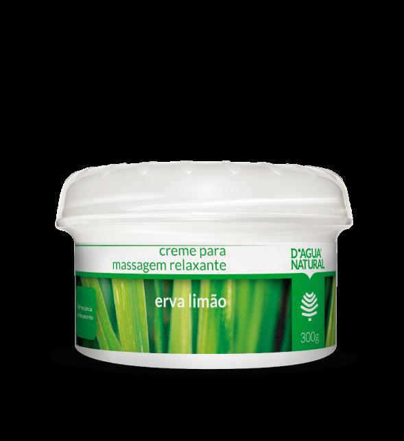 D'Água Natural Creme de Massagem Relaxante Erva Limão - 300g