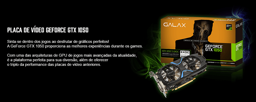 placa de vídeo 1030 ddr4  galax para pc gamer