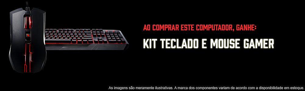mouse e teclado gamer fortrek ao comprar pc gamer cs go