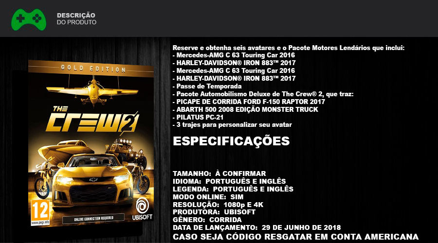 the crew 2 gold edition ps4 individual games store. Black Bedroom Furniture Sets. Home Design Ideas