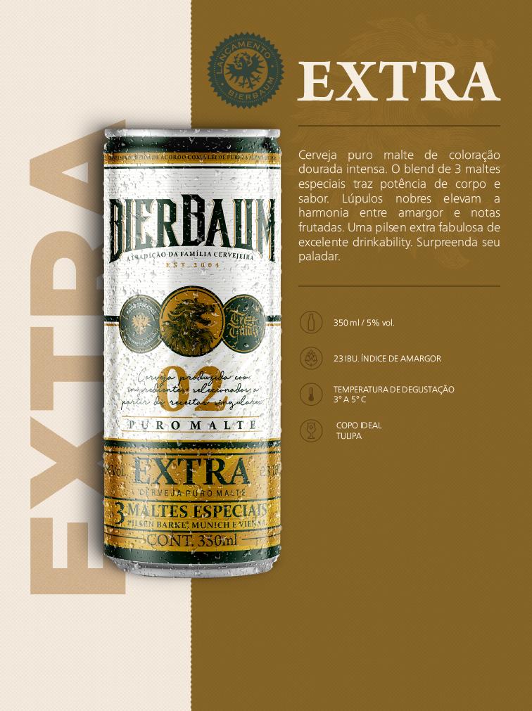 Cerveja Bierbaum Pilsen Extra Gold