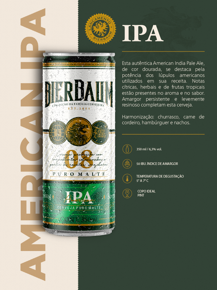 Cerveja Bierbaum American IPA